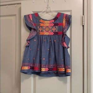 multi-colored embroidered top!!